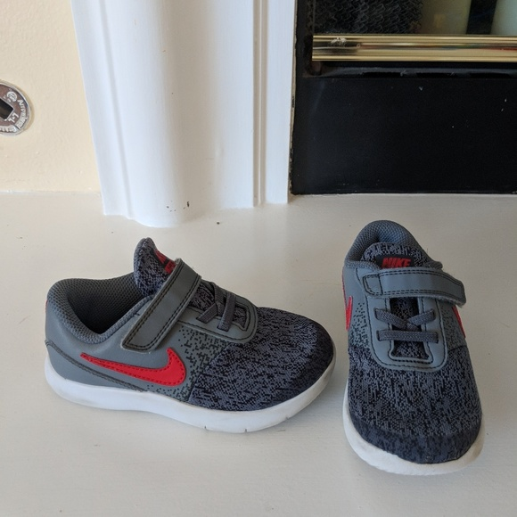 c2d8e586e6cef6 Toddler boys Nike Flex Contact Gray Red. Size 10C.  M 5b0b60bba6e3ea7a82606419. Other Shoes ...